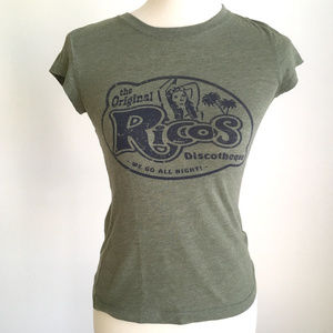 Vintage American Eagle Olive Green Graphic T Shirt